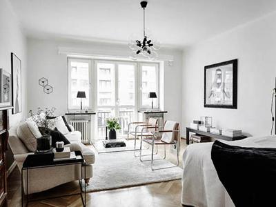 45平米黑白北欧小公寓