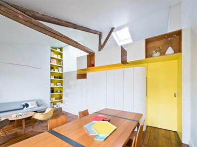 简约淡雅的欧式风格主白缀黄居室